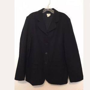 J. Crew Lined Wool Four Button Boxy Blazer Coat